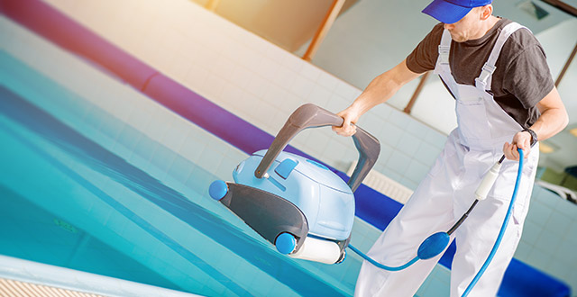 manutenzione robot piscina