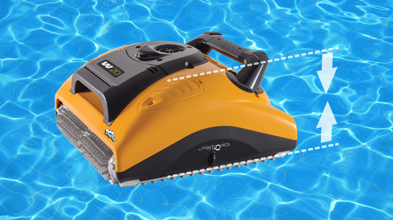 Robot-piscina-dolphin-W20-altezza